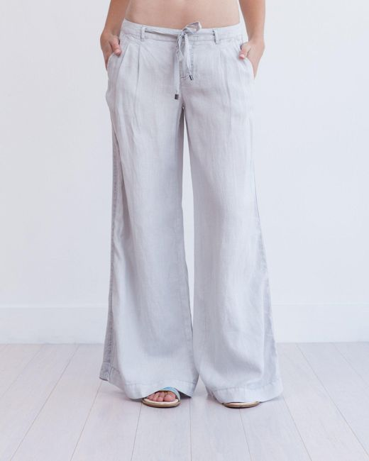 Marrakech | White Torres Wide Leg Linen Trouser | Lyst