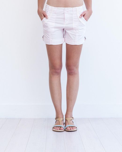 Marrakech | White Glendale Roll-tab Short | Lyst