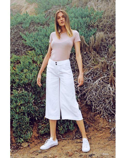 Marrakech - White Henry Wide Leg Crop Pant - Lyst