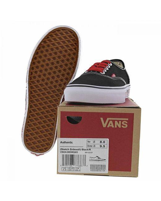 cedad98ead8105 ... Vans - Black Classic Authentic Sketch Skate Shoes Trainers for Men -  Lyst ...