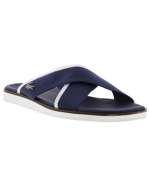 d92856dae29c ... Lacoste - Blue Coupri Sandal 117 1 Cam Slide Sandals for Men - Lyst ...