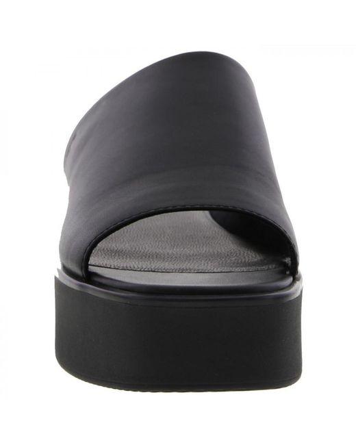 b0ecba3ba21a ... Vagabond - Black Bonnie Platform Chunky Slide Leather Sandal - Lyst ...
