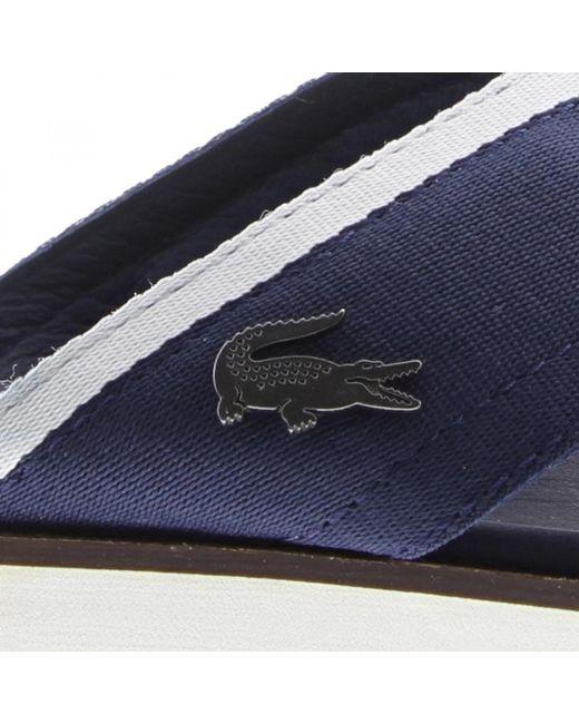3b39779bef6 ... Lacoste - Blue Coupri Sandal 117 1 Cam Slide Sandals for Men - Lyst ...