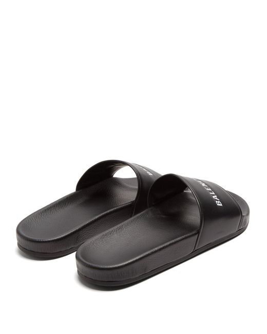 Logo-debossed leather sandals Balenciaga x4Zp6CWYL