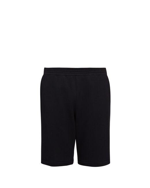 Versace - Black Short en jersey à empiècement timbre for Men - Lyst