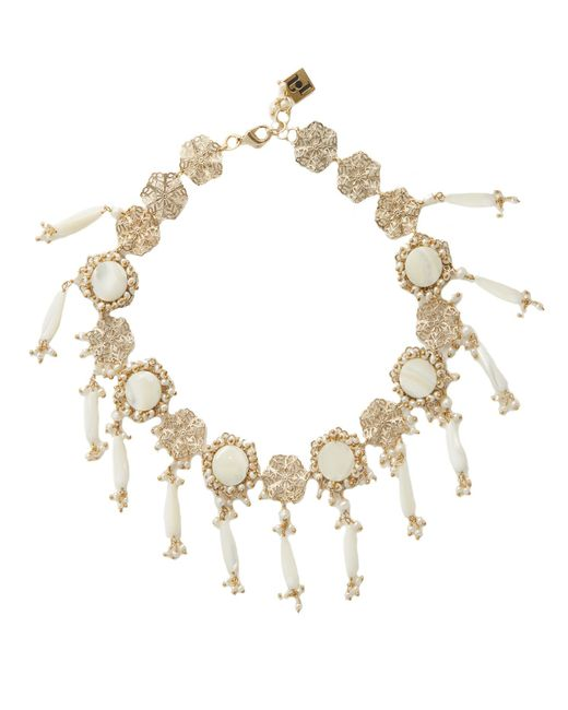 Rosantica By Michela Panero | Metallic Corte Pearl-embellished Necklace | Lyst