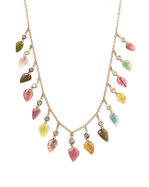 Jacquie Aiche - Metallic Diamond, Tourmaline & Gold Necklace - Lyst