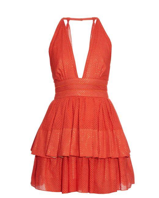 Sophie Theallet - Red Anais Plunging Neckline Dress - Lyst