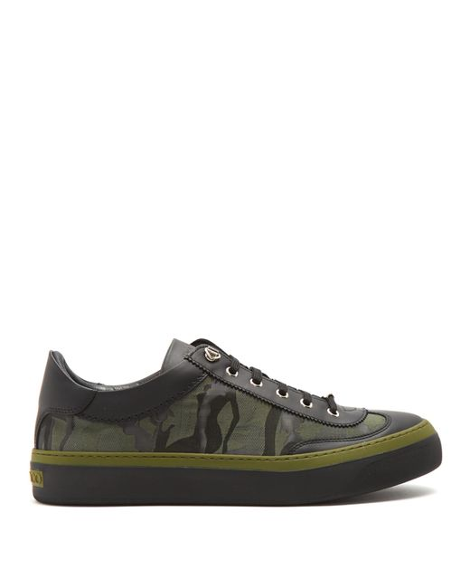 Jimmy Choo | Black Ace Camouflage-print Low-top Trainers for Men | Lyst