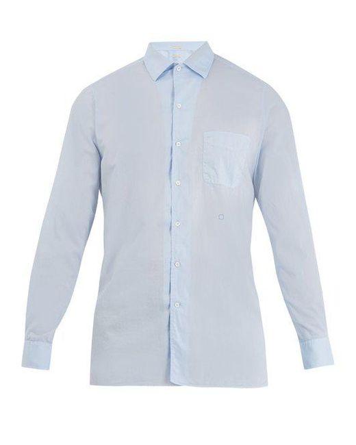 Massimo Alba - Blue Point-collar Cotton Shirt for Men - Lyst
