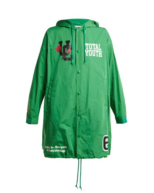 Undercover - Green Imperméable à capuche Total Youth - Lyst