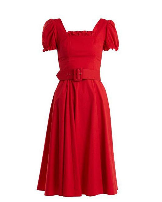 Cheap Price Store Discount Pay With Visa Maryann cotton dress Staud Clearance Best Place amZ2Sx