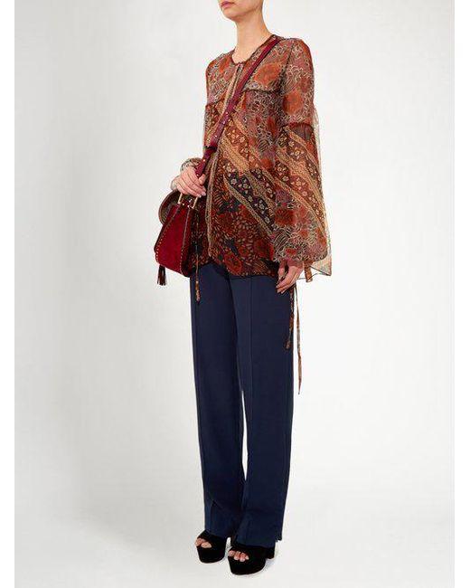 Cheap Sast Foulard-print sheer silk blouse Chloé For Sale Discount Sale Manchester Online vsEIp6GksF