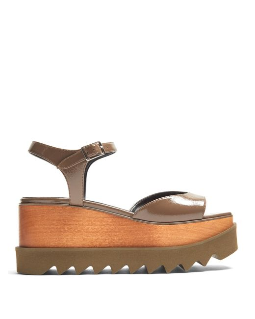 Stella McCartney   Multicolor Elyse Platform Sandals   Lyst