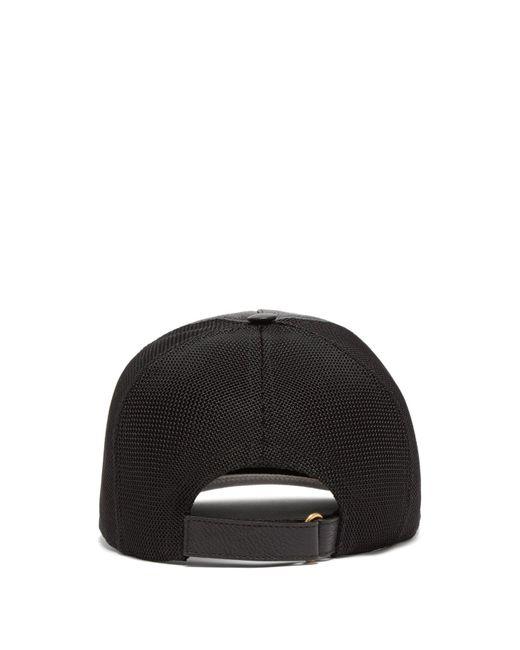 a18f83bb Gucci Black Logo Print Leather Baseball Cap in Black for Men - Save ...