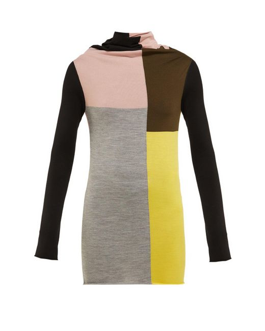 Colville Multicolor Colour Block Wool Sweater
