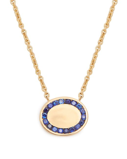 Jessica Biales - Blue Candy Sapphire & Yellow Gold Necklace - Lyst