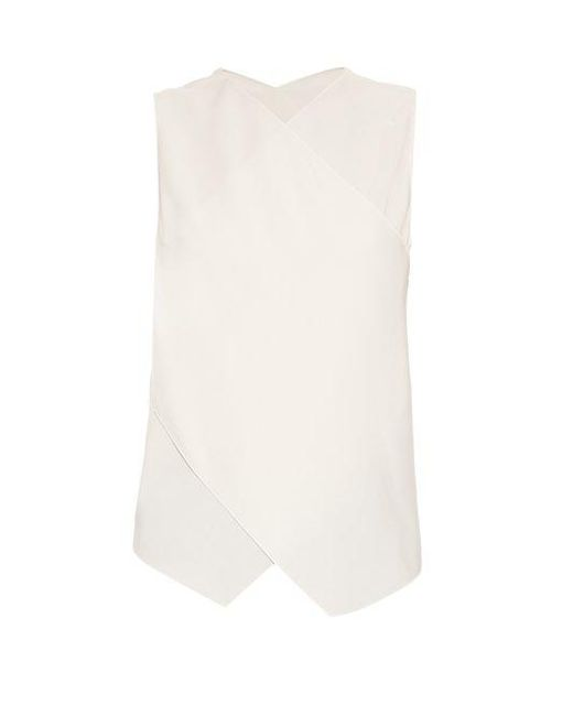 Maison Rabih Kayrouz - White Crossover-back Crepe Top - Lyst