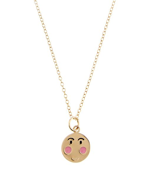 Alison Lou | Metallic Enamel & Yellow-gold Bashful Face Necklace | Lyst