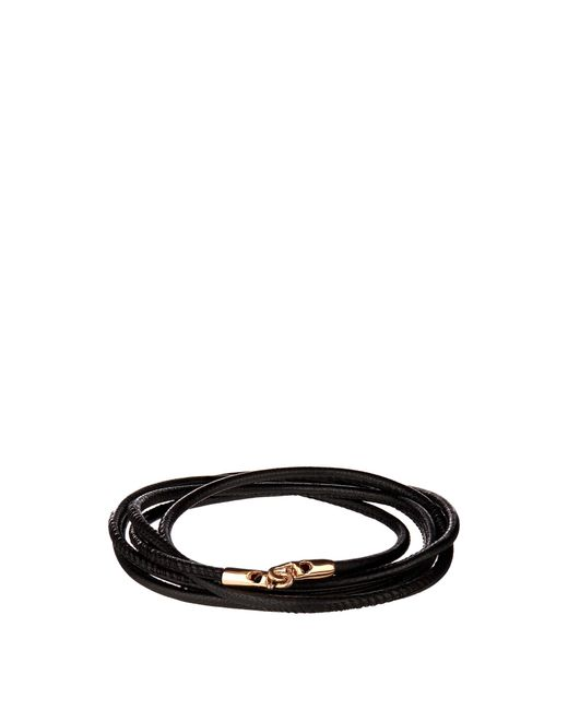 Luis Morais | Black Rose-gold And Leather Bracelet for Men | Lyst