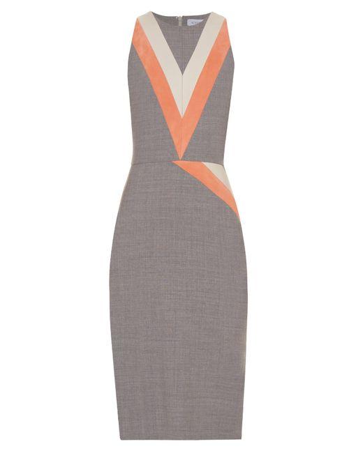 Altuzarra | Gray Klein Chevron-patterned Stretch-wool Dress | Lyst