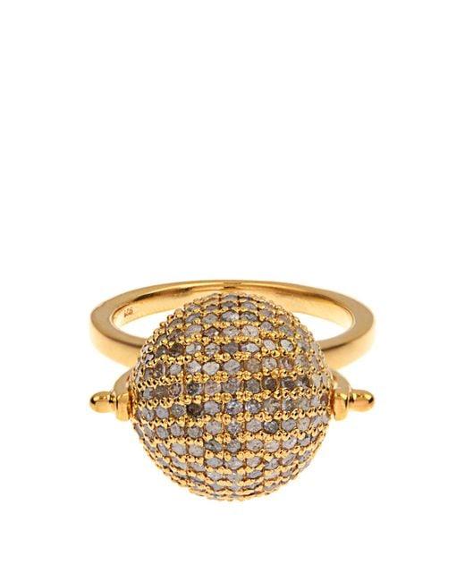 Jade Jagger   Yellow Diamond & Gold-plated Disco Ball Ring   Lyst