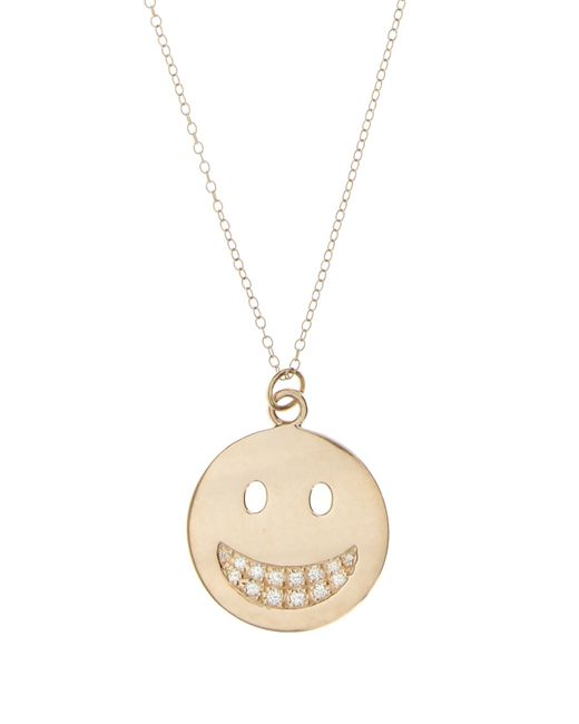 Alison Lou | Metallic Diamond & Yellow-gold Big Grin Necklace | Lyst