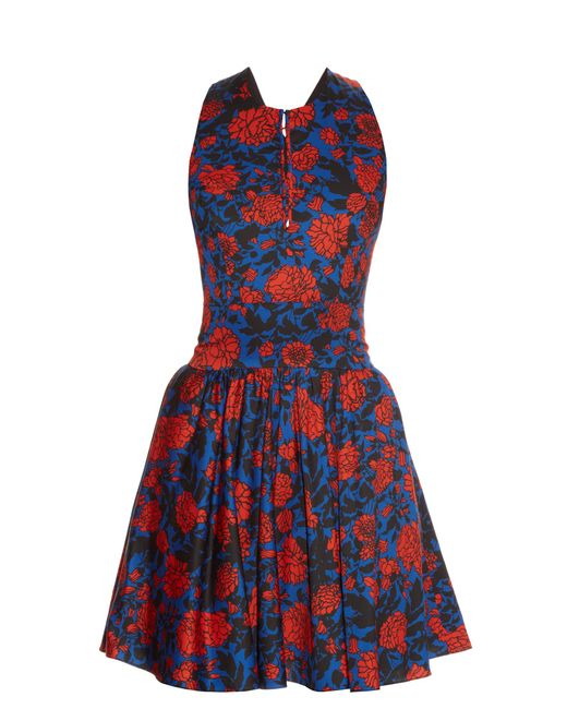Sophie Theallet   Blue Jeanne Floral-print Dress   Lyst