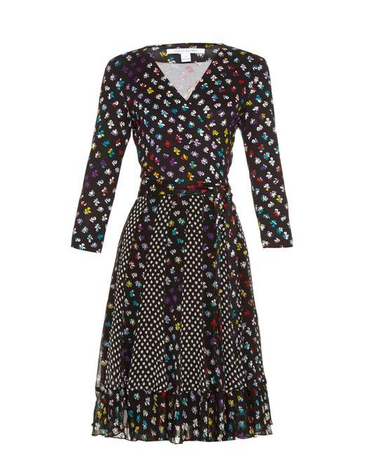 Diane von Furstenberg | Multicolor Caprice Silk-Jersey Dress | Lyst