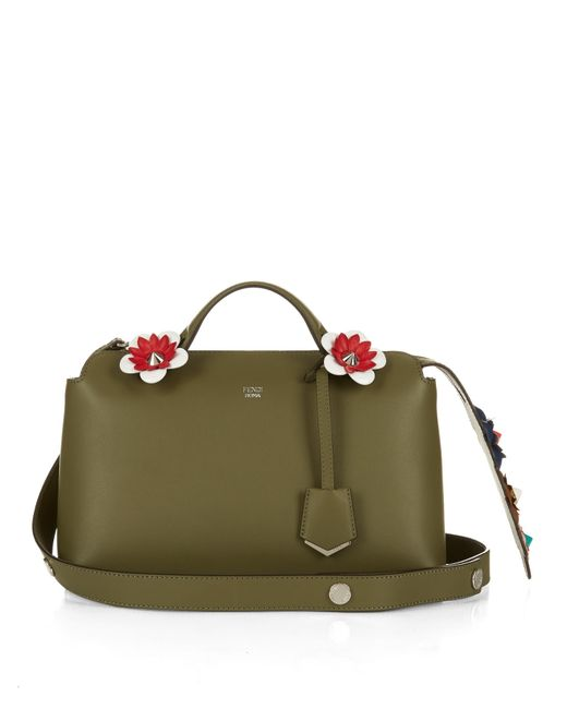 Fendi By The Way Flower-Embellished Tail Cross-Body Bag In Brown (KHAKI) | Lyst