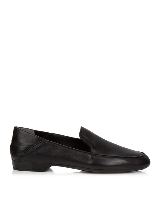 Robert Clergerie | Black Fani Collapsible-heel Leather Loafers | Lyst