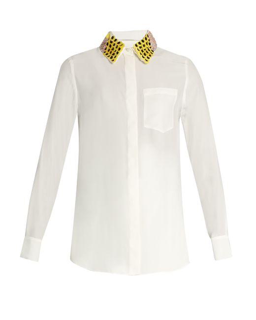 Altuzarra | Natural Chica Detachable-collar Long-sleeved Shirt | Lyst