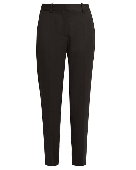 Stella McCartney | Black Cropped Tuxedo Trousers | Lyst