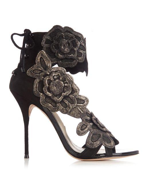 Sophia Webster | Multicolor Winona Floral-appliqué Suede Sandals | Lyst