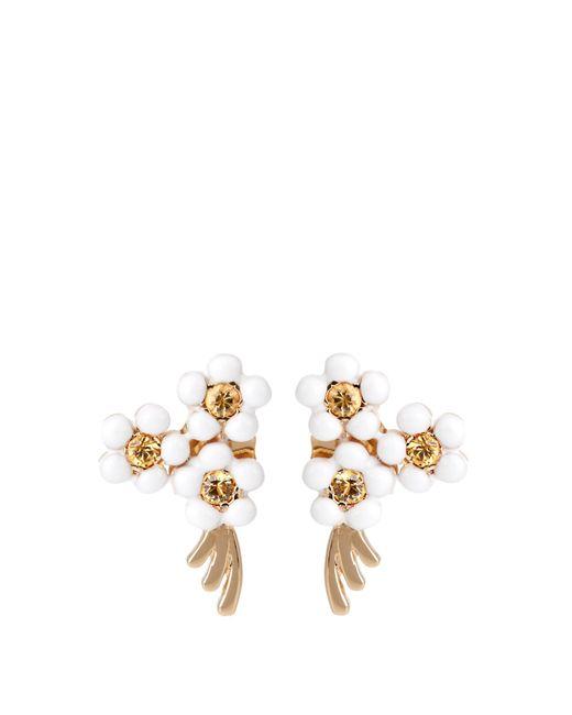 Alison Lou | Multicolor Sapphire, Enamel & Yellow-gold Daisy Earring | Lyst