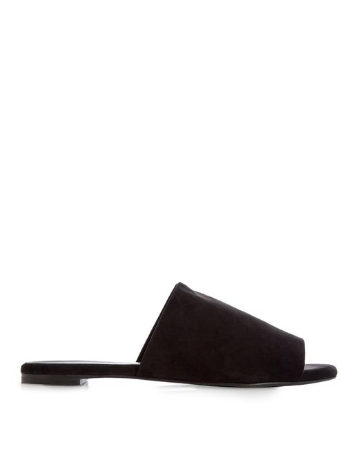Robert Clergerie | Black Gigy Suede Slides | Lyst