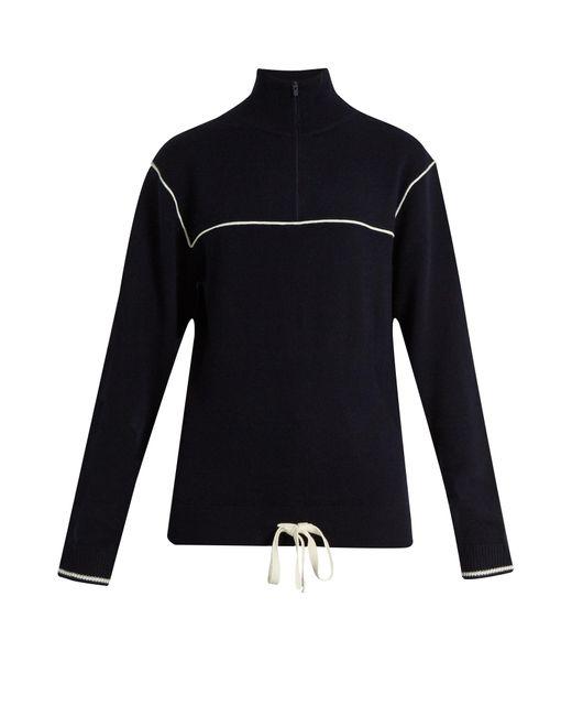 Chloé | Multicolor Half-zip Cashmere Sweater | Lyst