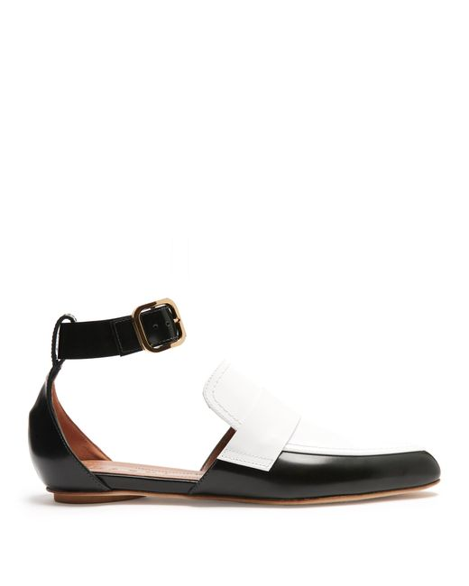 Marni | Multicolor Cut-out Two-tone Leather Loafers | Lyst
