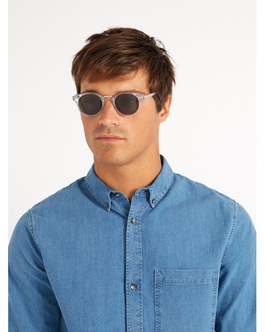 cutler gross multicolor 1008 round frame sunglasses for men