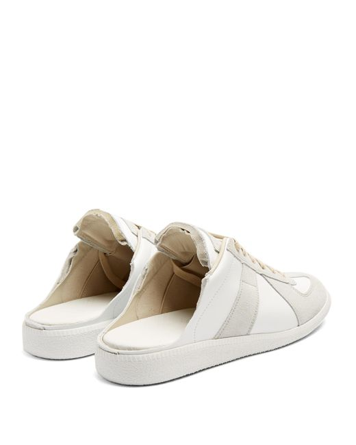 Maison Margiela Backless Panelled Trainers In White Save