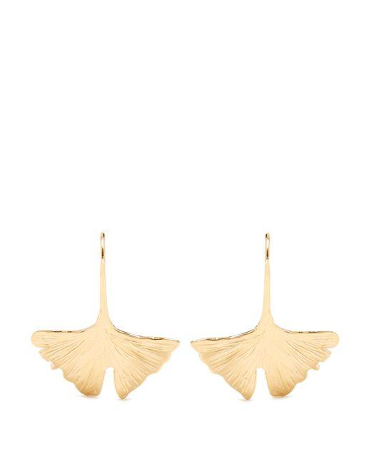 Aurelie Bidermann | Metallic Ginkgo Gold-plated Earrings | Lyst