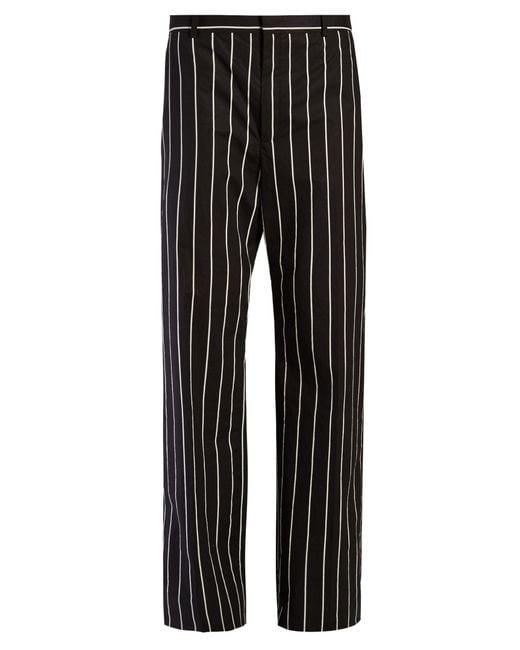 Balenciaga | Black Straight-leg Striped Trousers | Lyst