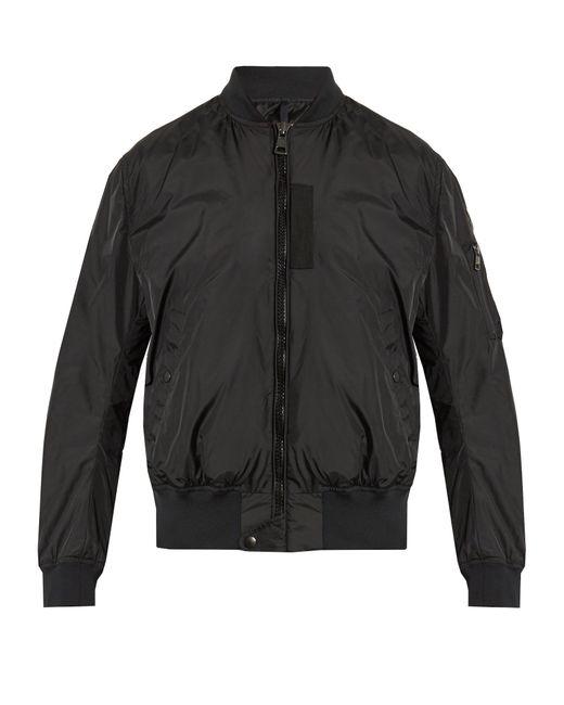 Moncler | Black Timothe Nylon Bomber Jacket for Men | Lyst