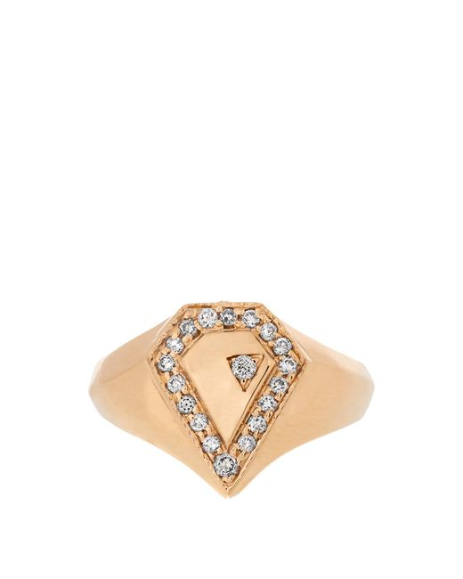 Jacquie Aiche | Multicolor Diamond & Yellow-gold Ring | Lyst