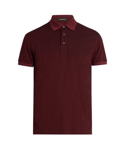 Ermenegildo zegna cotton piqu polo shirt in multicolour for Zegna polo shirts sale