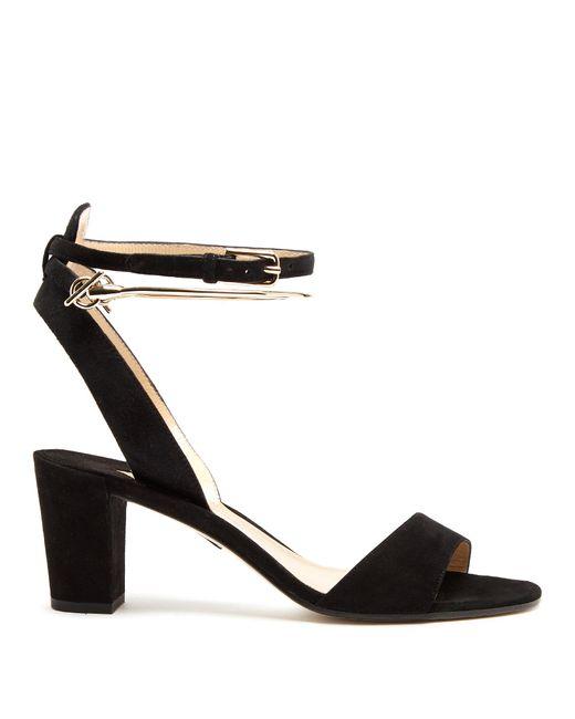 Paul Andrew | Black Eckland Block-heel Suede Sandals | Lyst