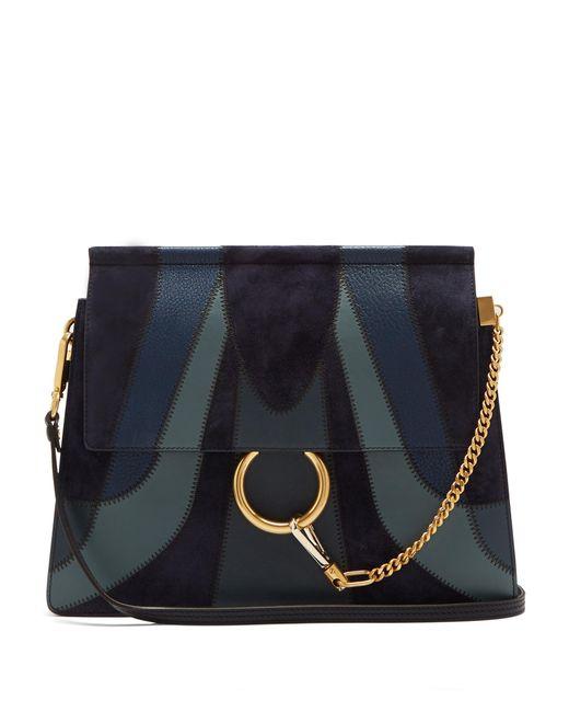 Chloé | Blue Faye Medium Patchwork Leather Shoulder Bag | Lyst