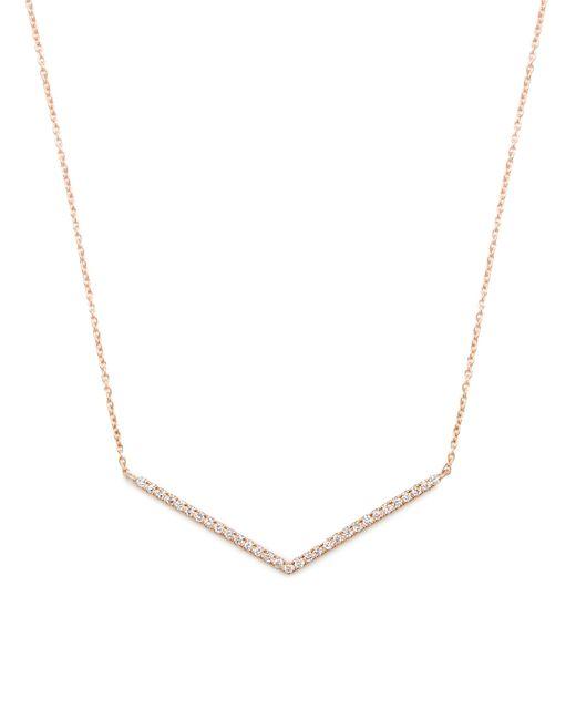 Diane Kordas | Metallic Diamond & Rose-gold Chevron Necklace | Lyst