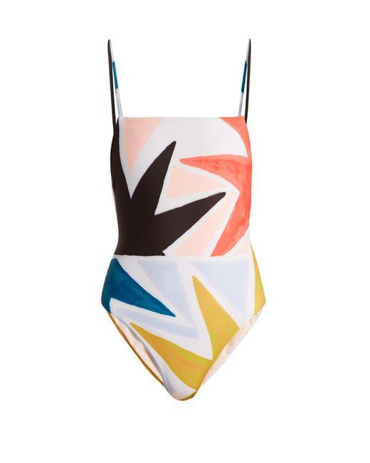 Mara Hoffman | Blue Superstar-print Swimsuit | Lyst
