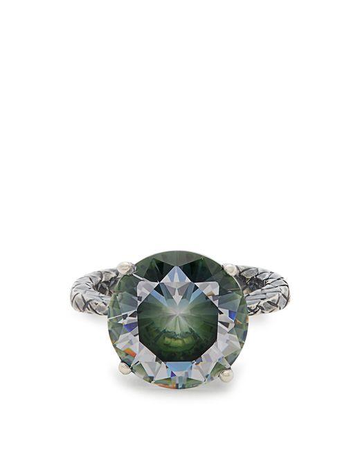 Bottega Veneta | Green Cubic-zirconia And Silver Ring | Lyst